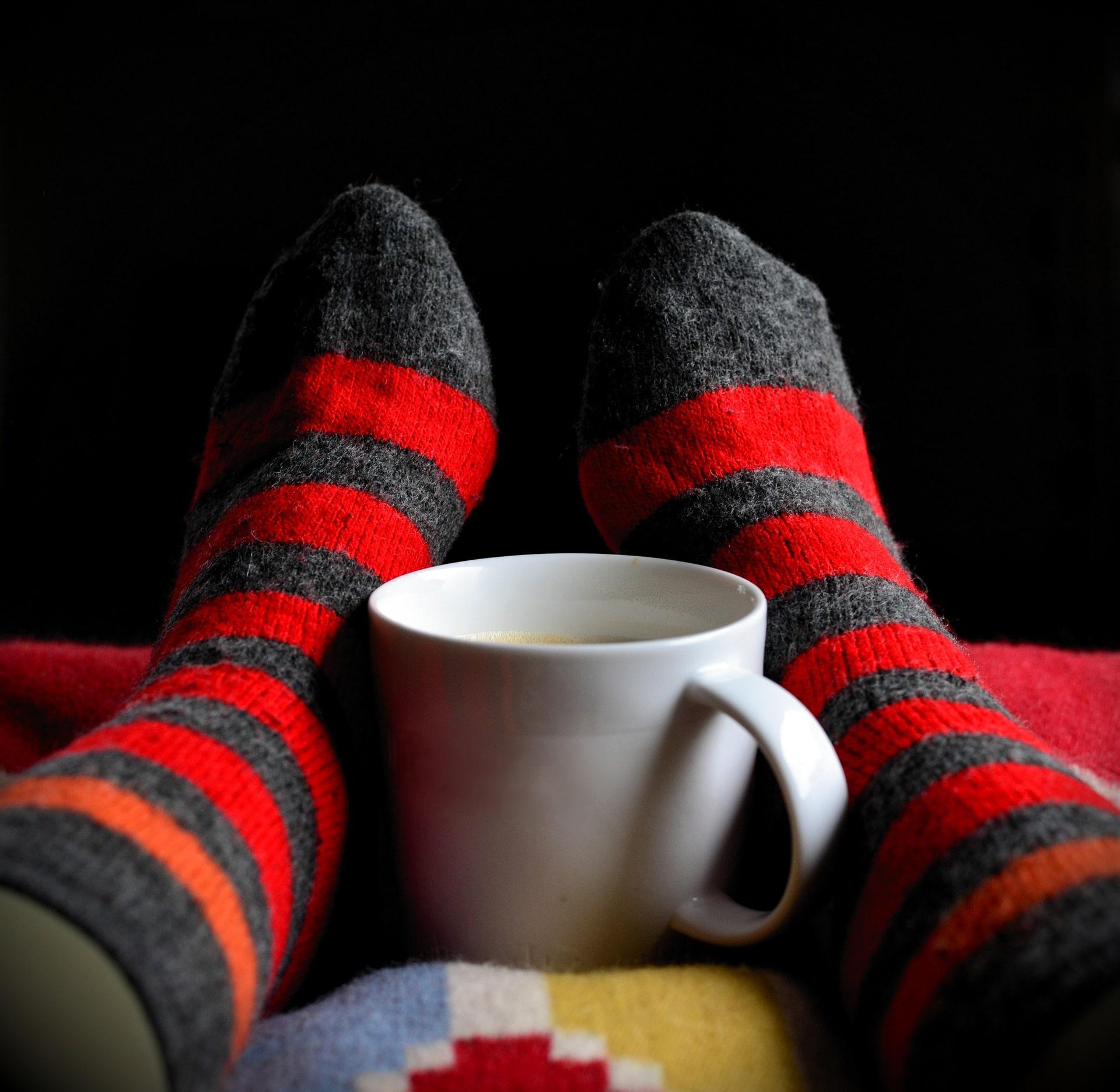 温かな靴下